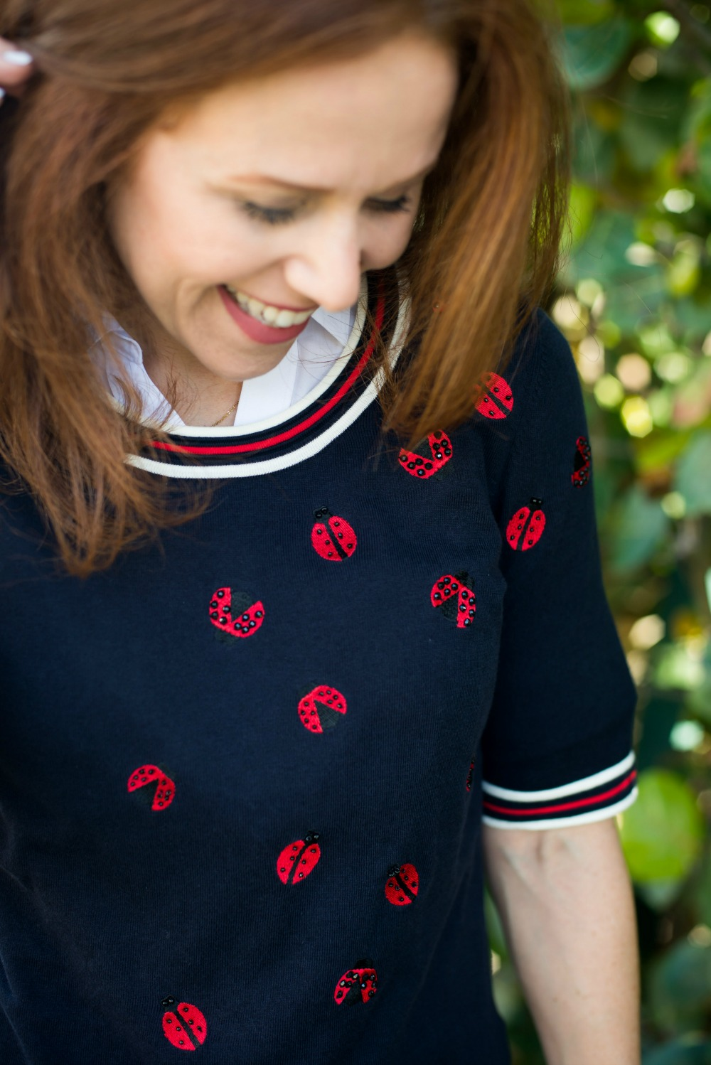 Alyson Seligman styling Talbots x Oprah Magazine ladybug collection  - Talbots collection with Oprah Magazine Collection 2018 - Popular Florida style blogger The Modern Savvy