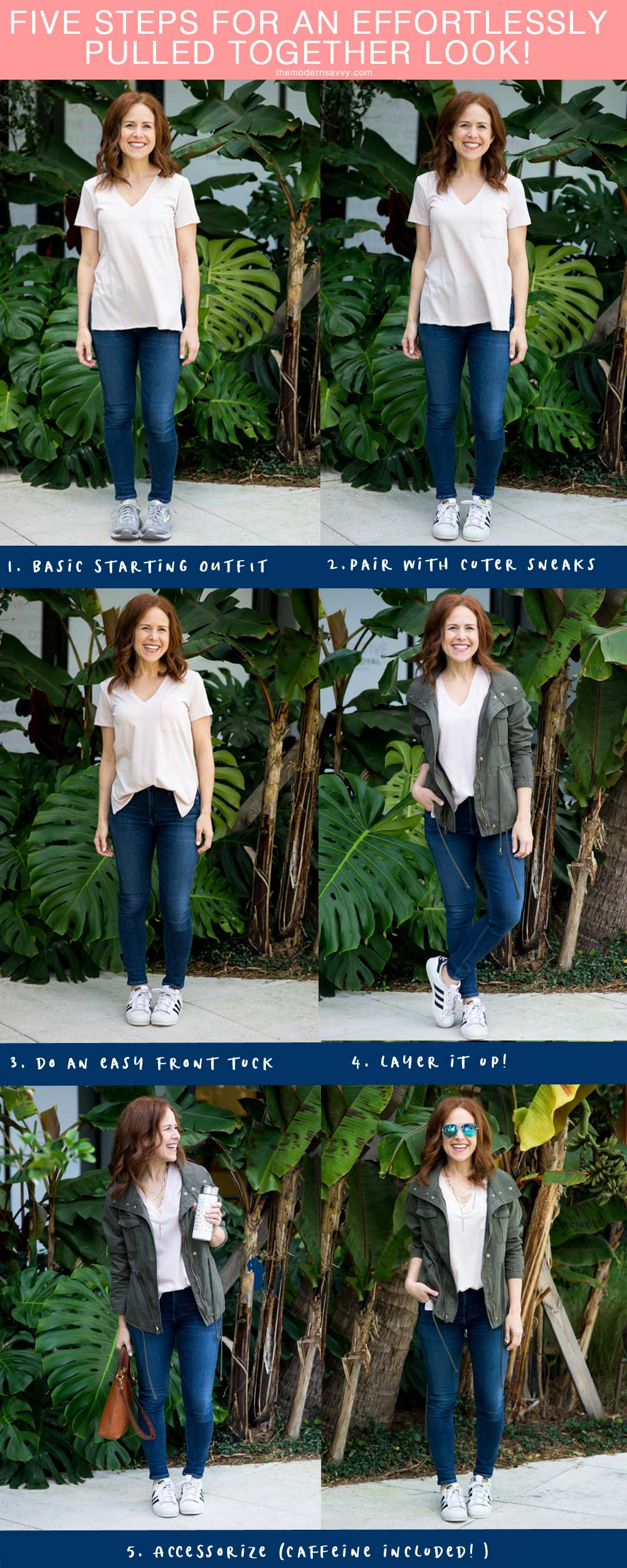 Five Steps to Creating a Pulled Together Casual Weekend look (perfect for mom on the go, too!) // the modern savvy by popular Florida style blogger The Modern Savvy