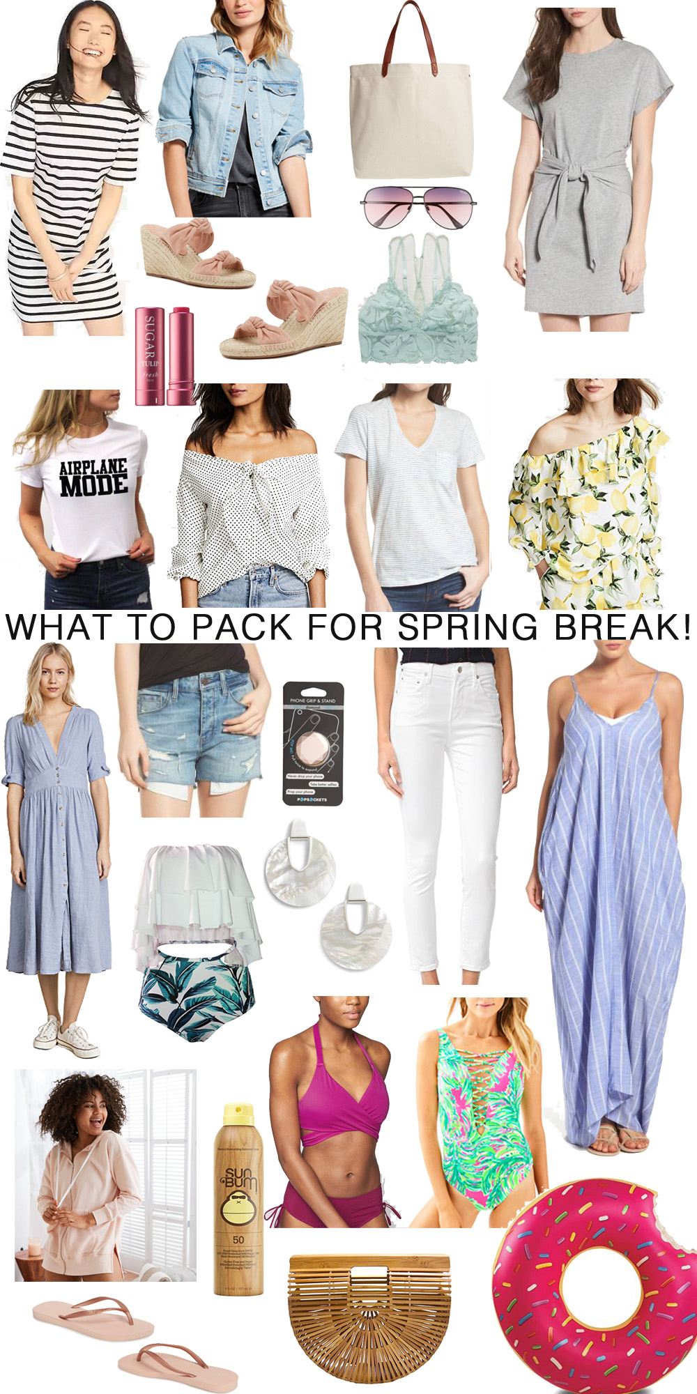 What to pack for spring break 2018 // the modern savvy, a life and style blog for the contemporary girl - The Ultimate Spring Break Checklist by popular Florida fashion blogger The Modern Savvy