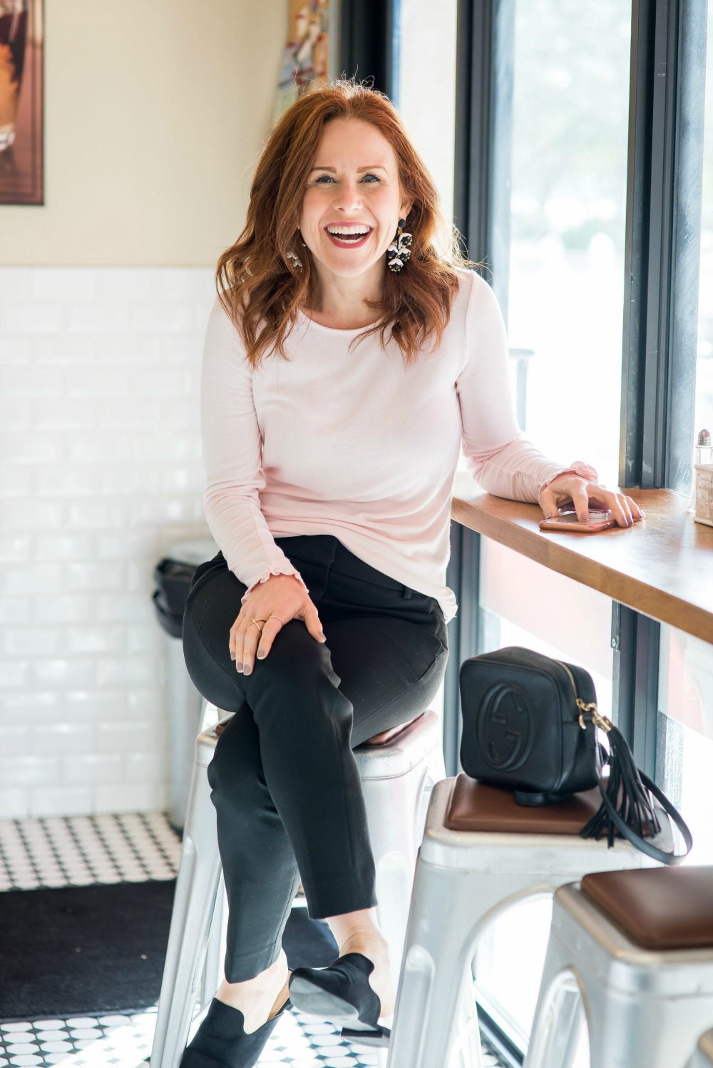 Easy work wear outfit gets upgraded with fun earrings // the modern savvy - The Easiest Way to Update Your Work Outfit by popular Florida style blogger The Modern Savvy