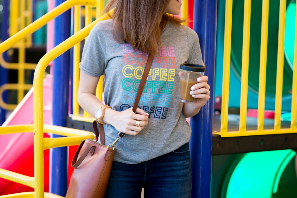 The cutest coffee tee // the modern savvy - Park Play Date by popular Florida blogger The Modern Savvy