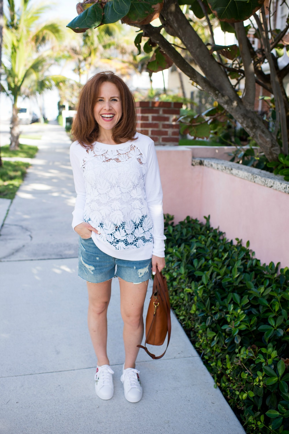 The Spring Sweatshirt - Spring Lace Sweatshirt by popular Florida style blogger The Modern Savvy