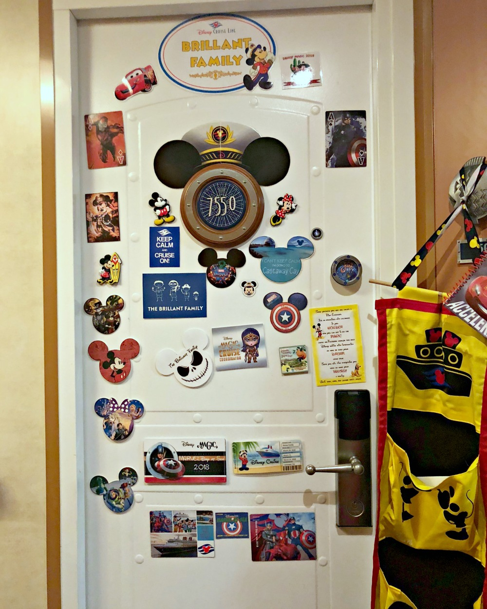 How to decorate your door and fish extender for a Disney Cruise // 20 Things You Need to Know Before your Disney Cruise