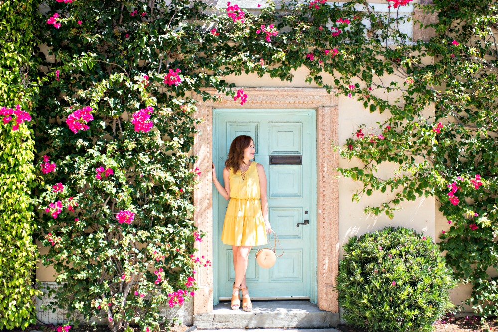 The easiest outfit combo for spring // alyson seligman of the momdern savvy in palm beach - Cute Yellow Dress styled by popular Florida fashion blogger, The Modern Savvy