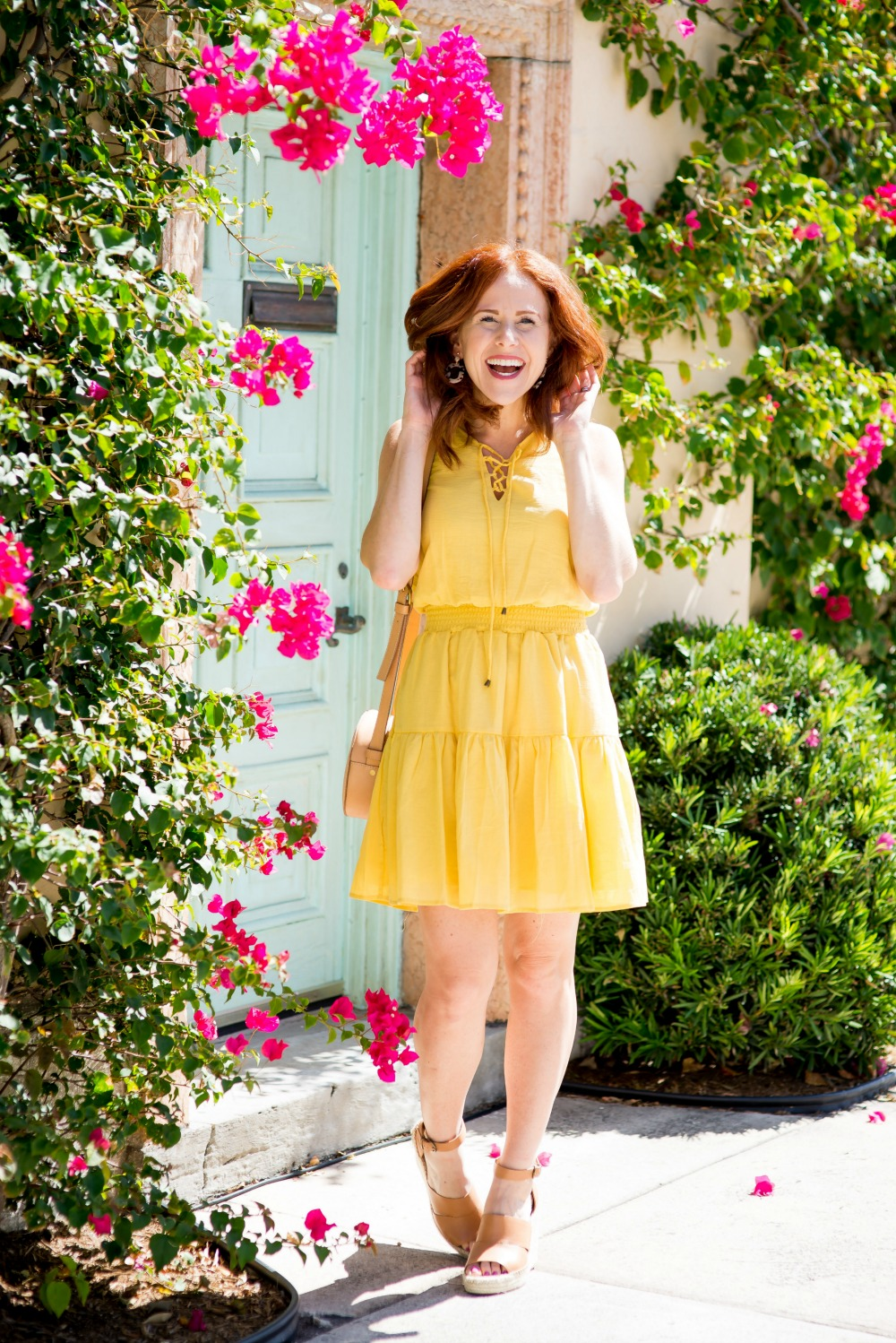 Yellow Dress Under $25, Palm Beach style - Cute Yellow Dress styled by popular Florida fashion blogger, The Modern Savvy