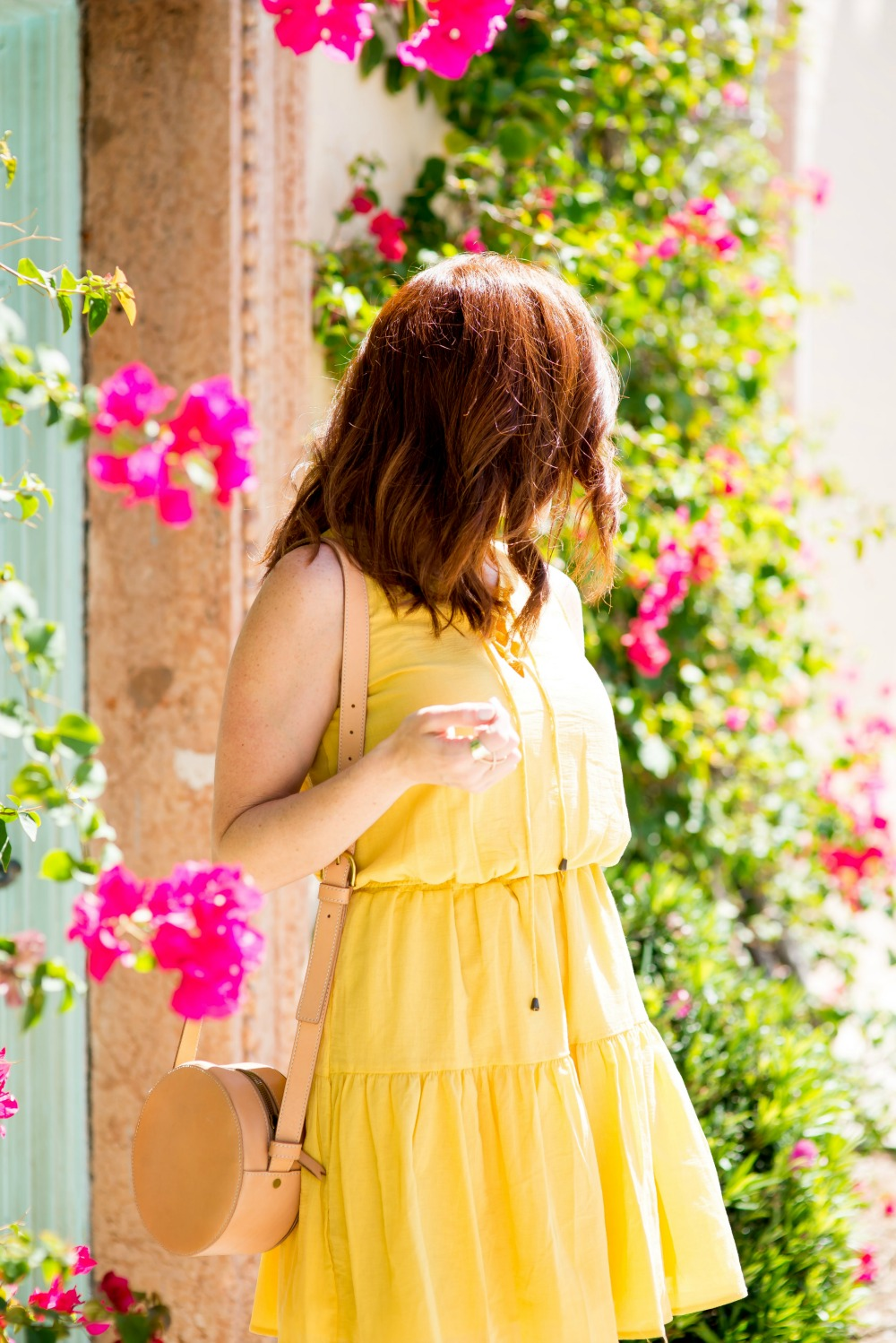 Yellow Dress on Palm Beach, Easy SPring style - Cute Yellow Dress styled by popular Florida fashion blogger, The Modern Savvy