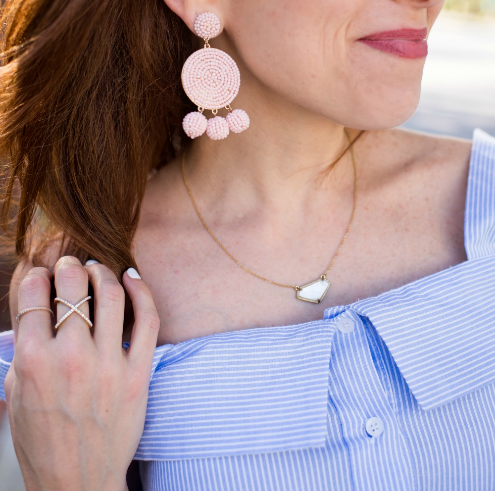 Statement earrings for spring // the modern savvy, a florida life and style blog