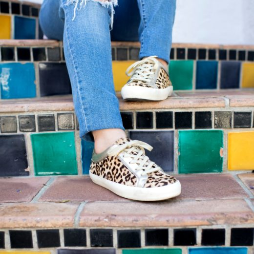 leopard sneakers, footwear, for a casual weekend, mom-friendly outfit // the modern savvy, a west palm beach life & style blog