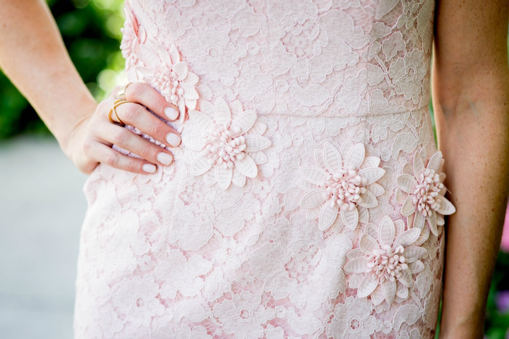 pink dress floral lace details: Mother Daughter style: Lessons My Mother Taught Me by popular Florida lifestyle blogger, The Modern Savvy