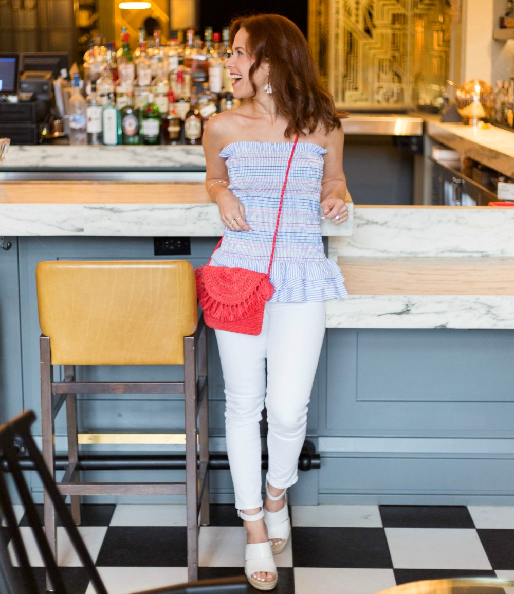 Easy summer night outfit // the modern savvy, a florida life & style blog - What I Wore: It's a Shirt AND a Poplin Skirt, featured by Florida style blogger, The Modern Savvy