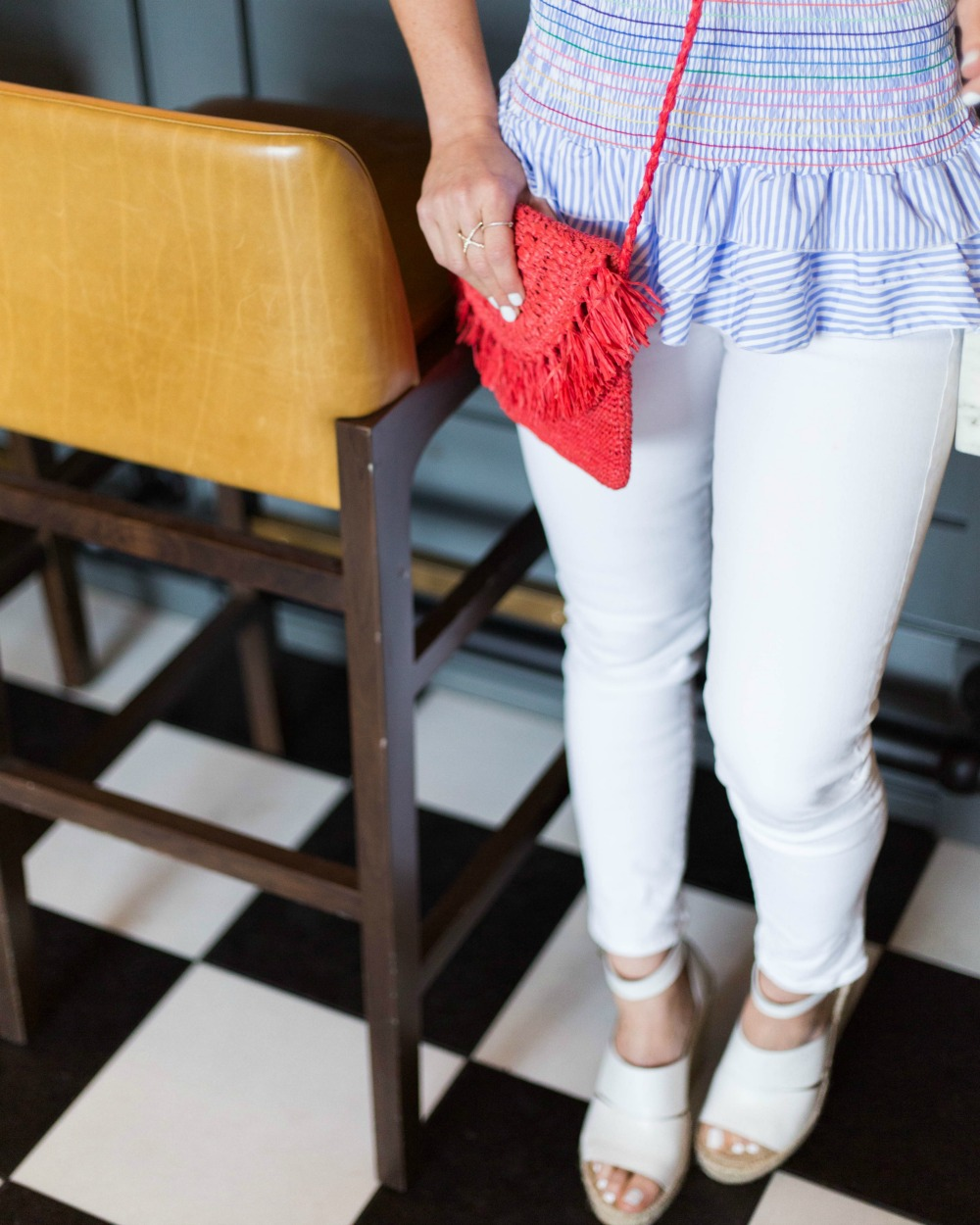 White denim outfit inspiration -- a super easy outfit ensemble for any occasion // the modern savvy, a florida life & style blog - What I Wore: It's a Shirt AND a Poplin Skirt, featured by Florida style blogger, The Modern Savvy