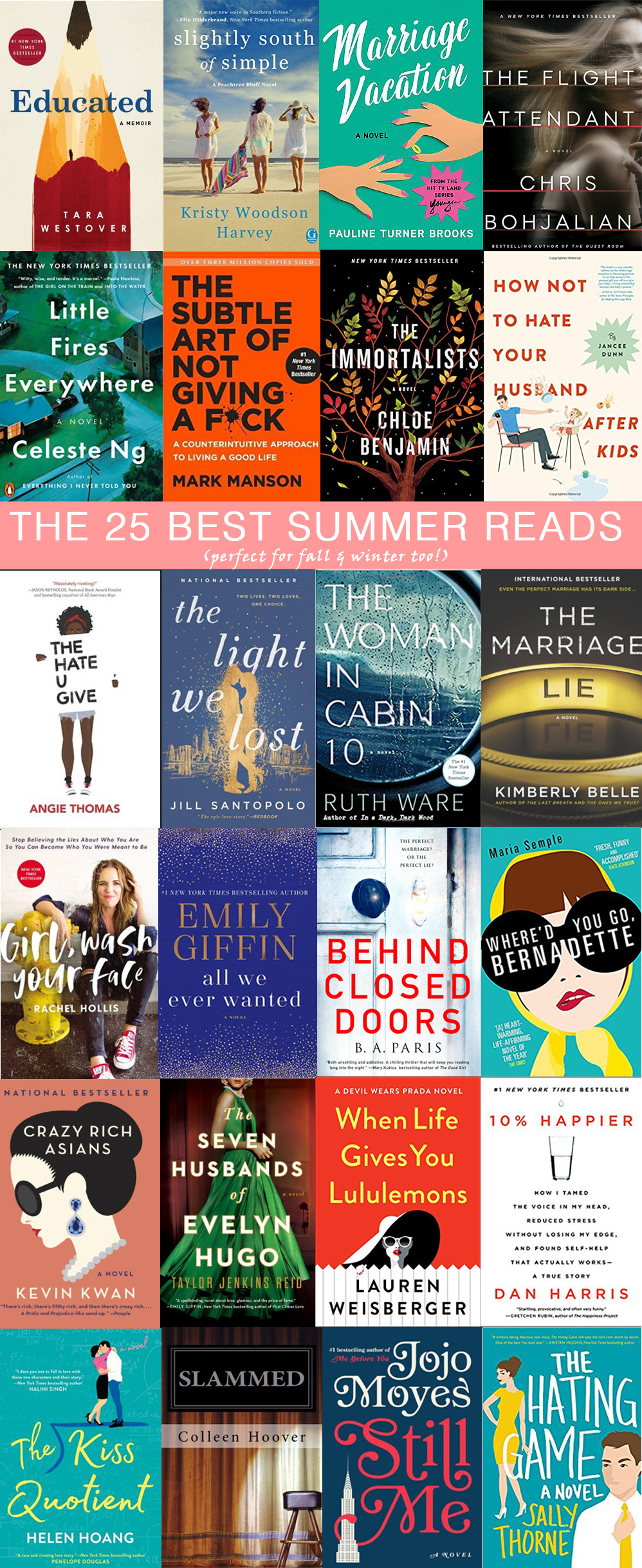The 25 Best Books to Read this Summer (and into the fall, too!) // the modern savvy, a life & style blog - The 25 Best Summer Reads featured by popular Florida lifestyle blogger, The Modern Savvy