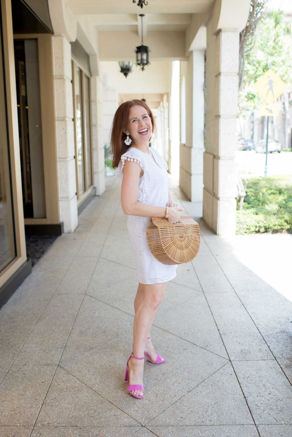 the little white dress on palm beach // the modern savvy - The Little White Dress featured by popular Florida style blogger, The Modern Savvy