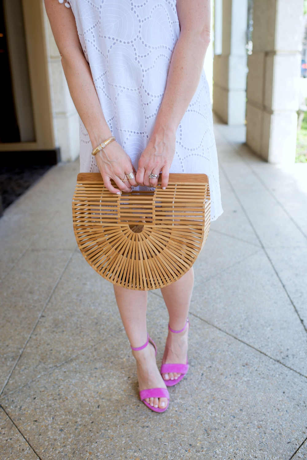 """The summer """"it"""" bag, the Cult Gaia, look for less // the modern savvy - The Little White Dress featured by popular Florida style blogger, The Modern Savvy"""