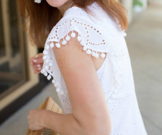 Lilly Pulitzer dress with Kendra Scott 'kristen' earrings // the modern savvy - The Little White Dress featured by popular Florida style blogger, The Modern Savvy