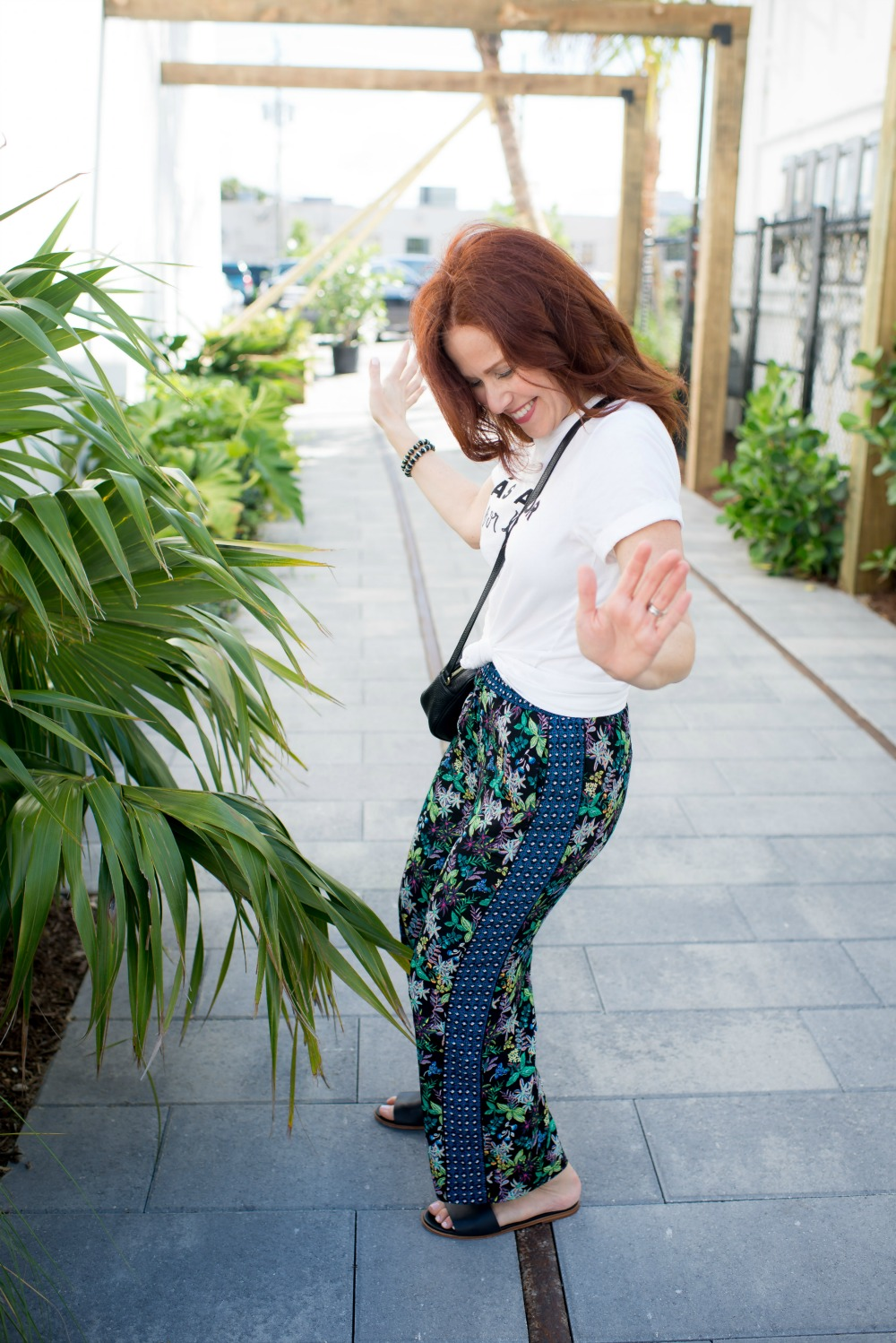 Floral pants for summer - Cropped Wide Leg Pants featured by popular Florida style blogger The Modern Savvy