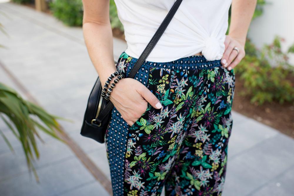 A super casual summer outfit (when you don't feel like getting dressed!) - Cropped Wide Leg Pants featured by popular Florida style blogger The Modern Savvy