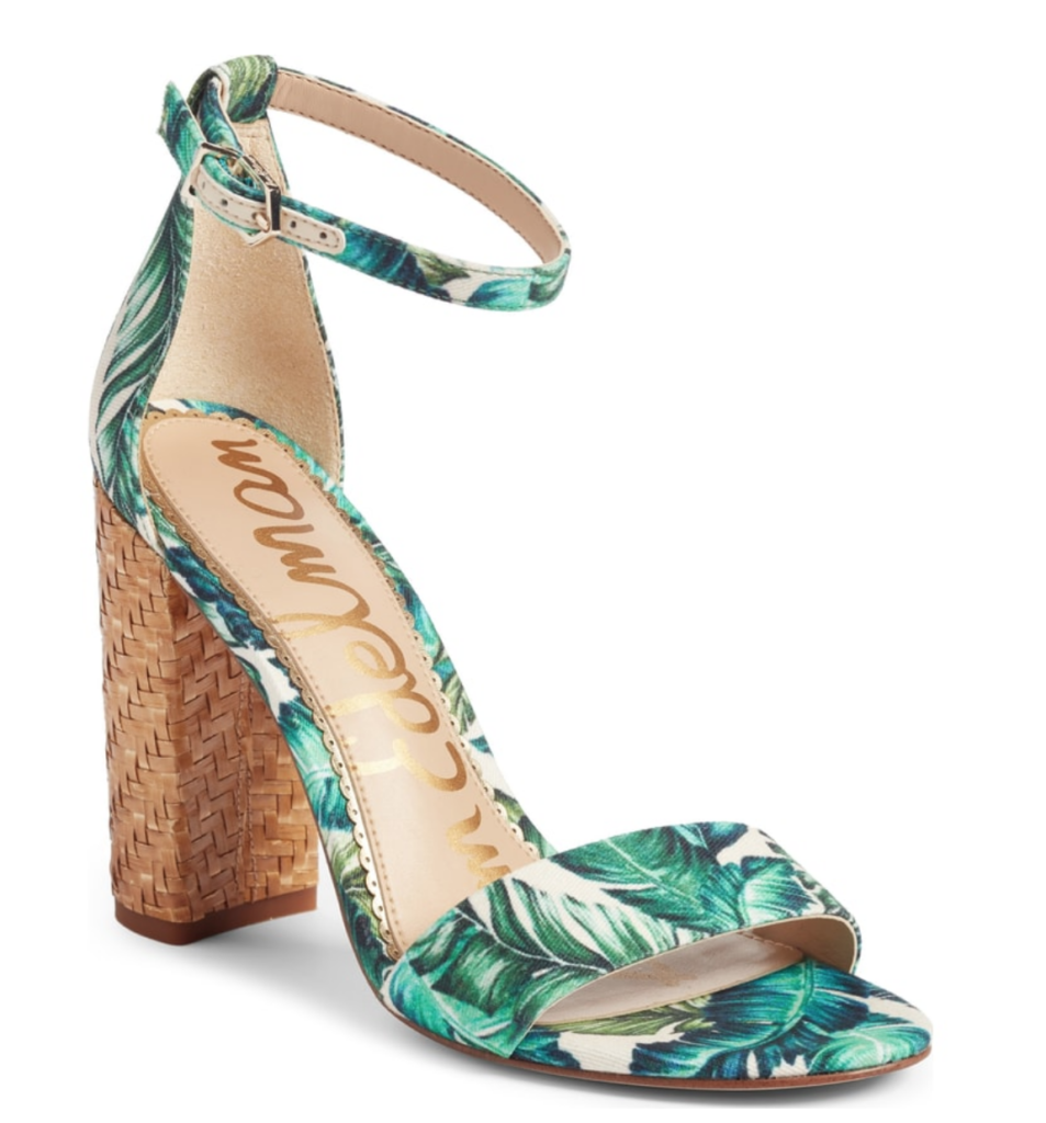 Sam Edelman Yaro Heels in palm print - Alyson's Current Favorites // June 2018, featured by popular Florida style blogger, The Modern Savvy