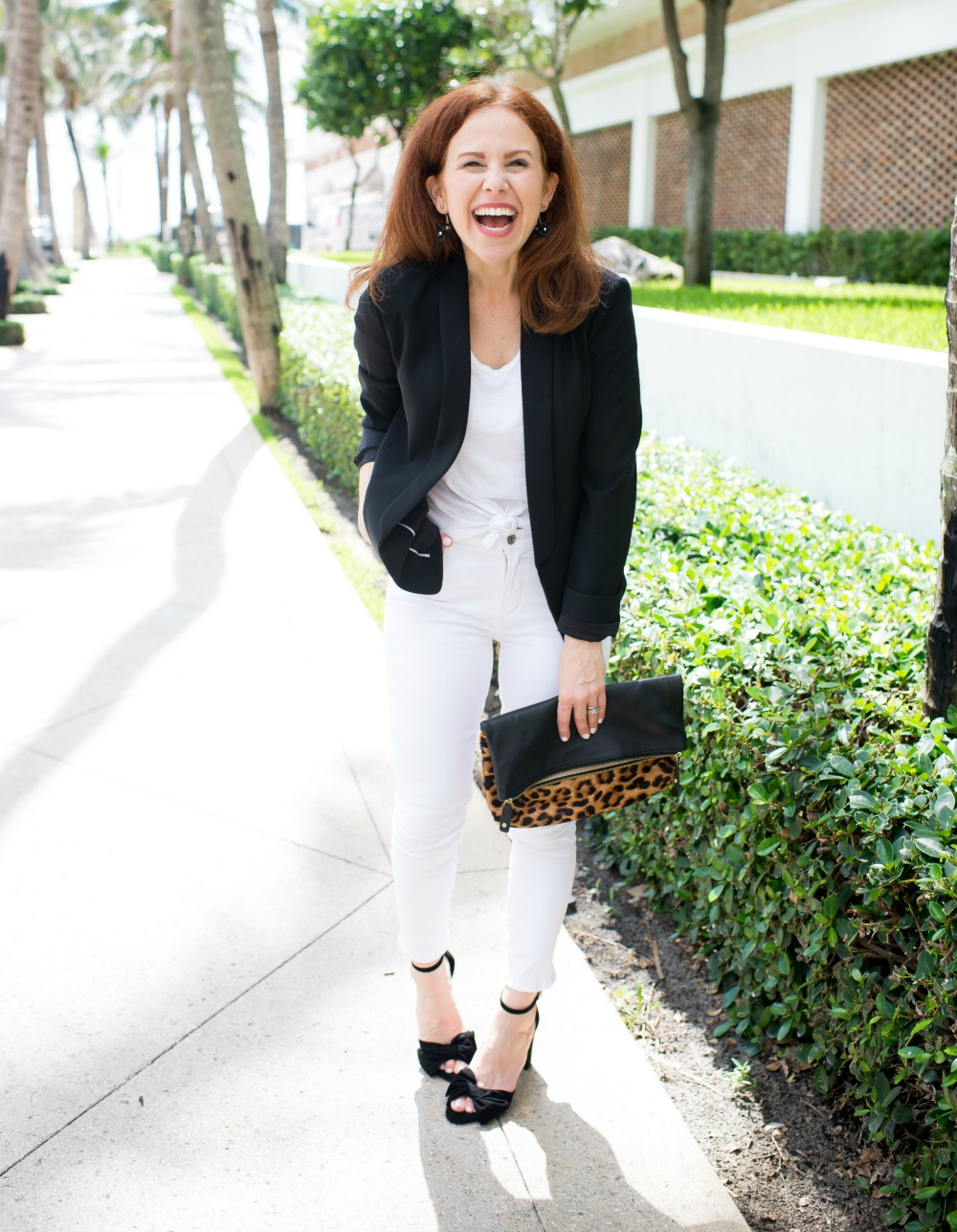 Five outfit ideas for a white tee and jeans | How to Wear White Jeans & White Tee - outfit ideas featured by popular Florida style blogger, The Modern Savvy