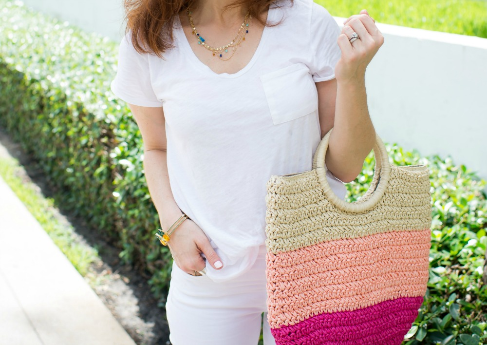 | How to Wear White Jeans & White Tee - outfit ideas featured by popular Florida style blogger, The Modern Savvy