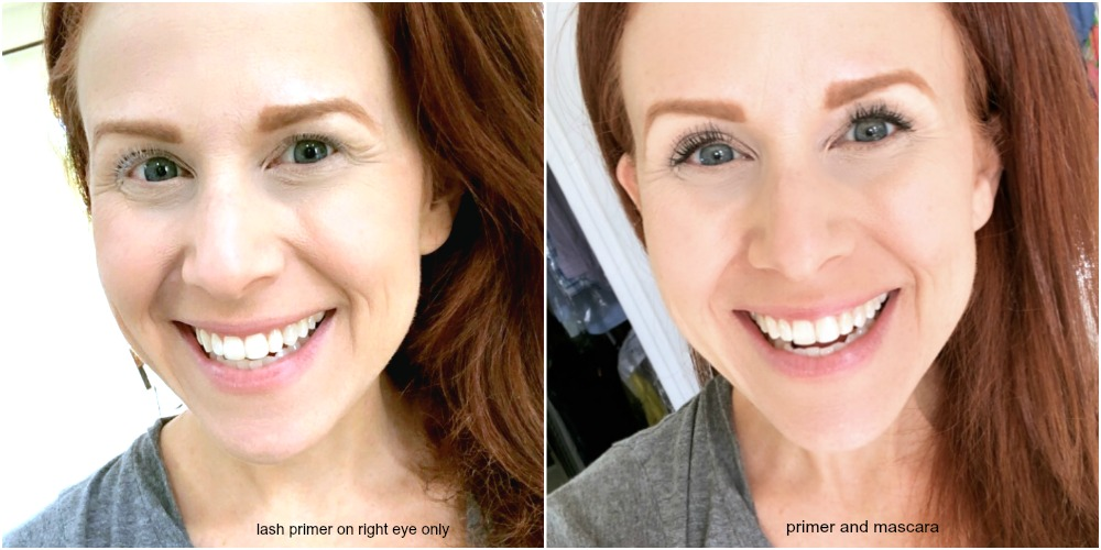 Before and after with lash primer - Why You Should Use a Lash Primer featured by popular Florida beauty blogger The Modern Savvy