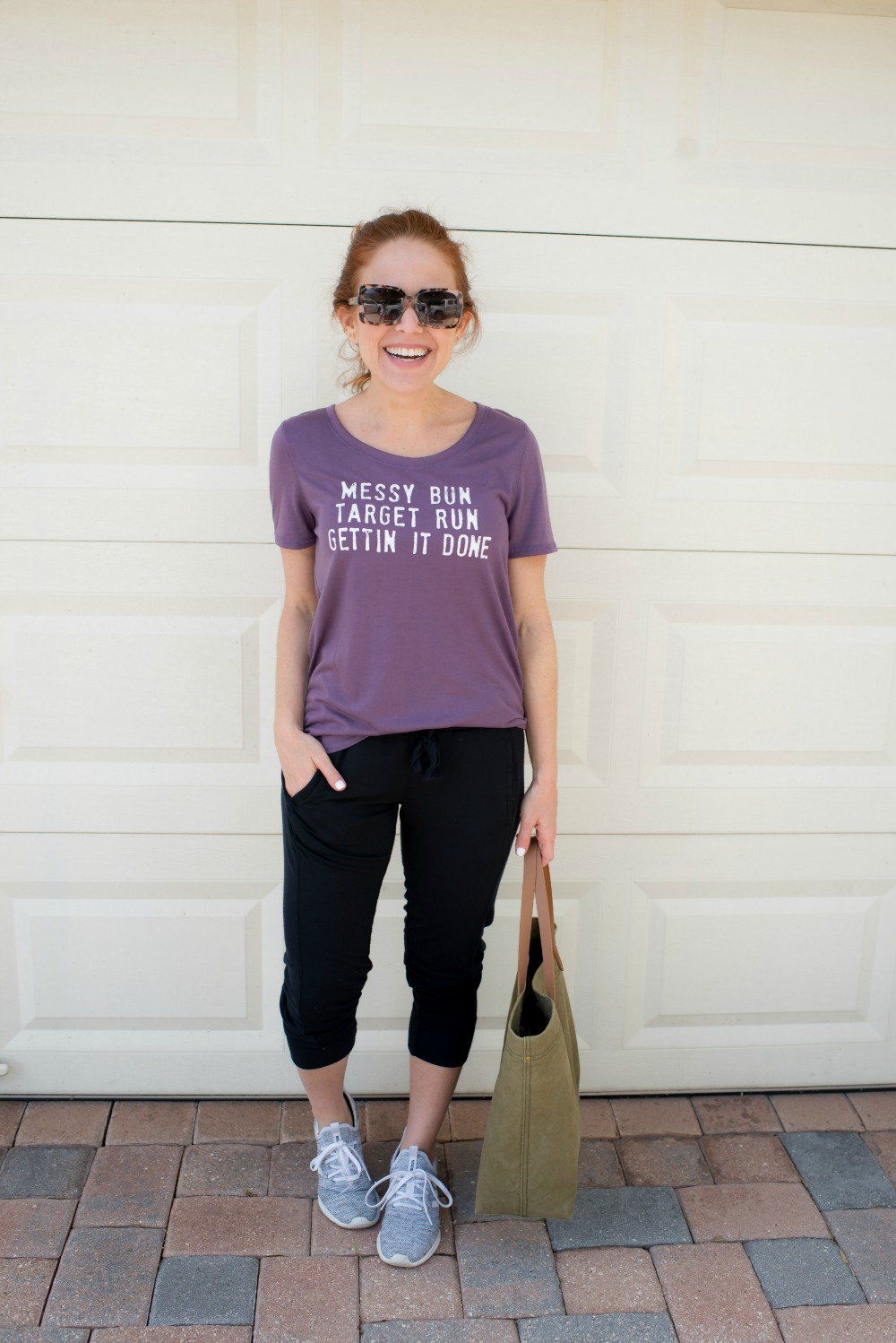 Messy bun, Target run, getting it done! // weekend outfits #realgirlstyle #weekendwear - Casual Weekend Outfit featured by popular Florida style blogger The Modern Savvy