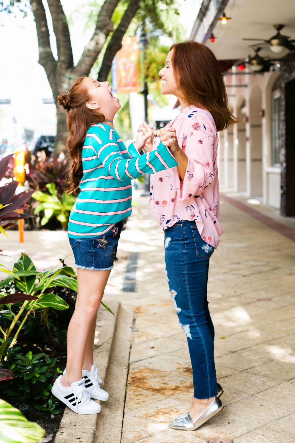 Cute, on trend mother daughter style for fall - Back to School Style, with JCPenney featured by popular Florida fashion blogger, The Modern Savvy