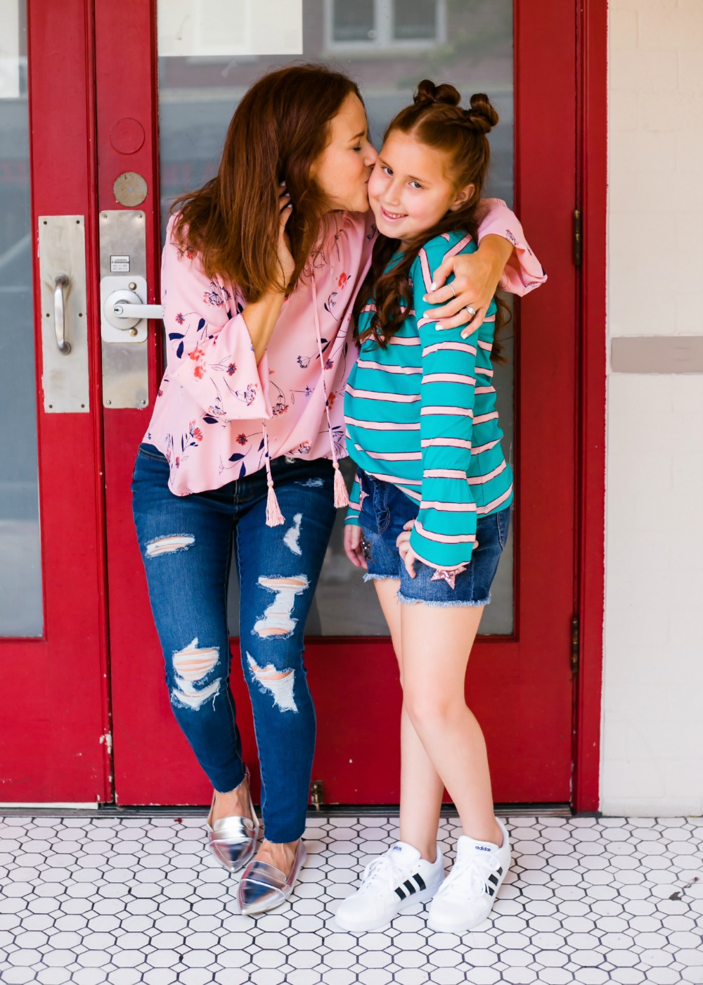 Mother daughter redheads styling what's on trend for fall - Back to School Style, with JCPenney featured by popular Florida fashion blogger, The Modern Savvy