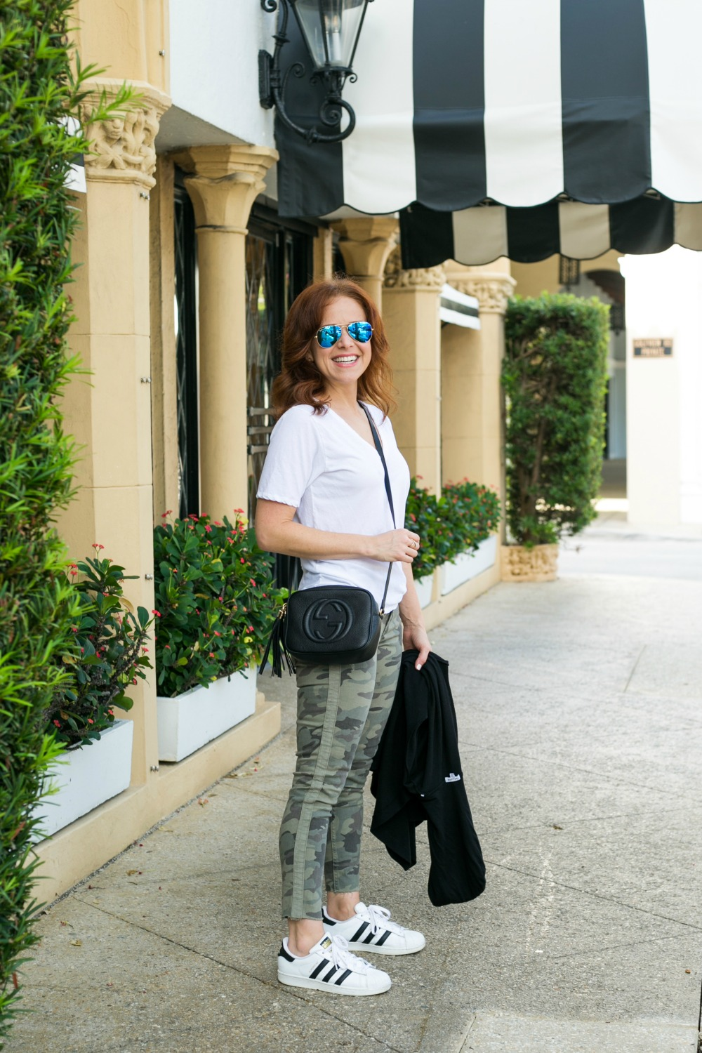 #fallstyle #casualstyle #weekendwear   Fall Trends in Warm Weather: Zara Camo Pants Two Ways featured by popular Florida fashion blogger The Modern Savvy