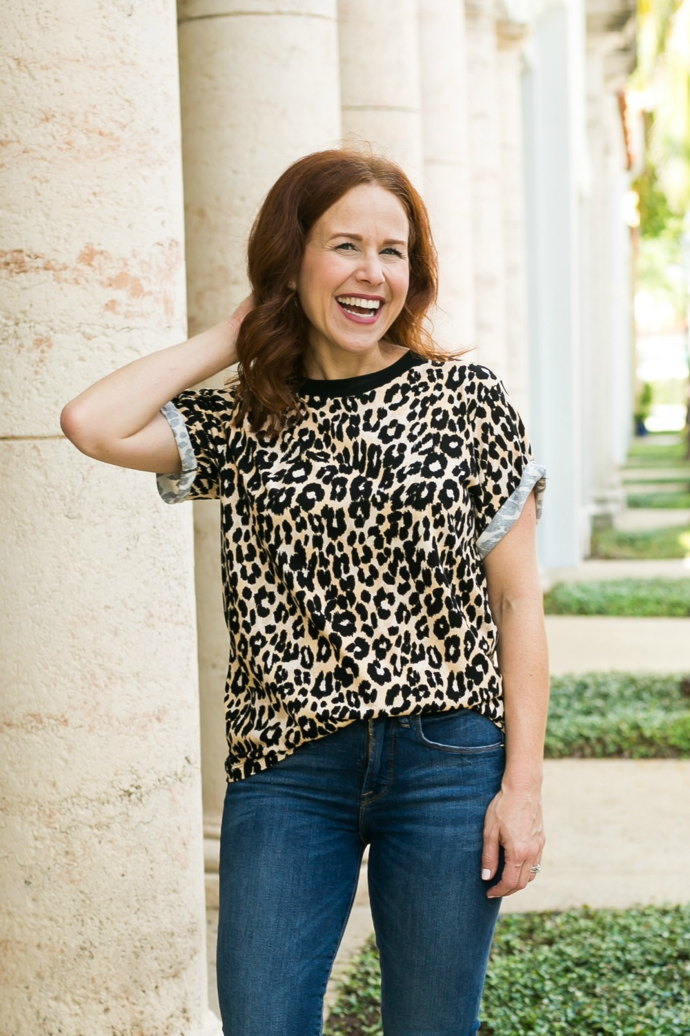 @themodernsavvy #fallstyle #leopard #momstyle | Good American | How real girls can style this fall's biggest trends including leopard | Fall Trends in Warm Weather: Leopard featured by popular Florida life and style blogger The Modern Savvy