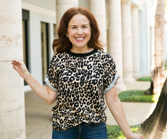 how to style a leopard tee