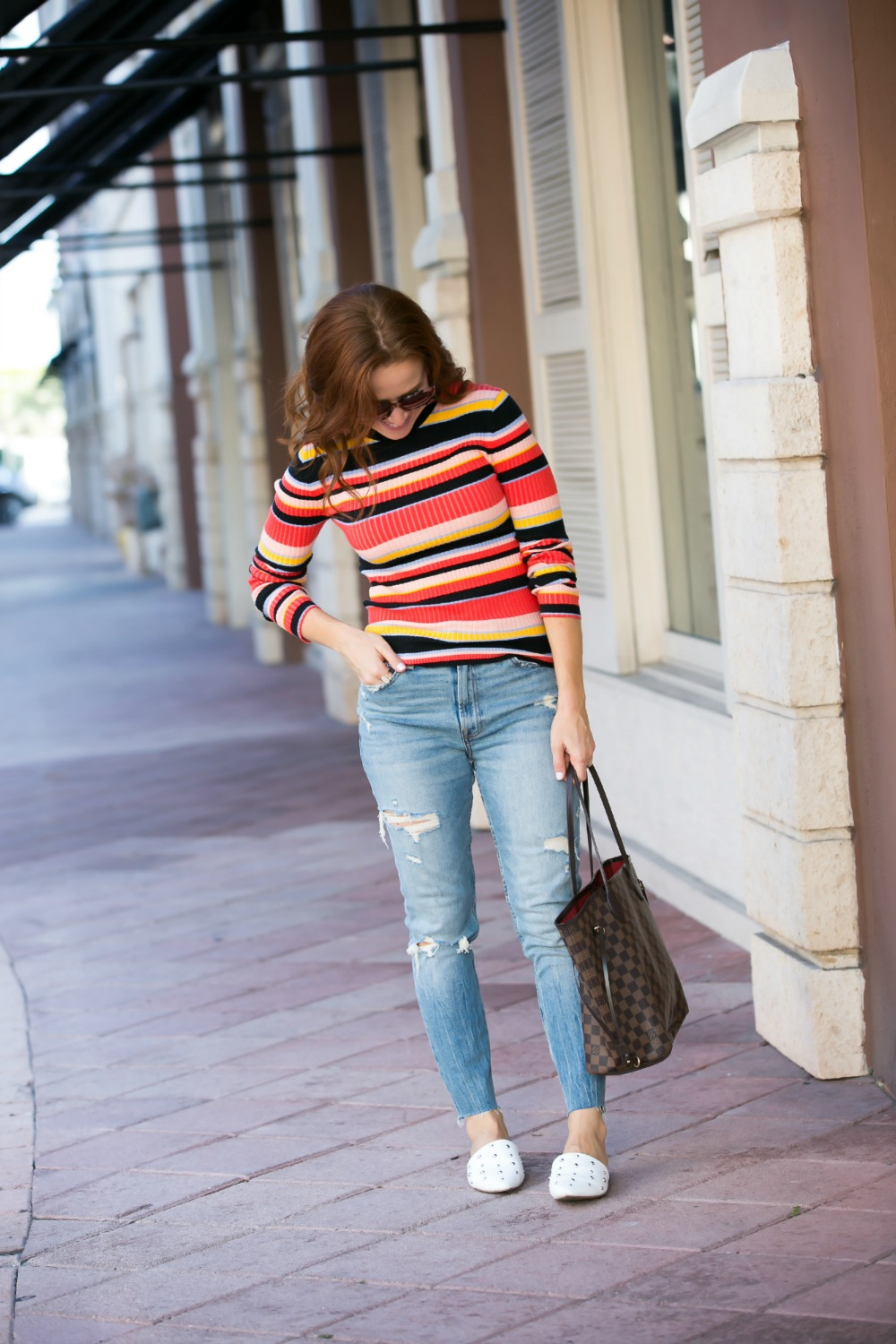 90s Vibes | Target | Fall weekend uniform | The Striped Ribbed Sweater is Back featured by top Florida fashion blog the modern savvy