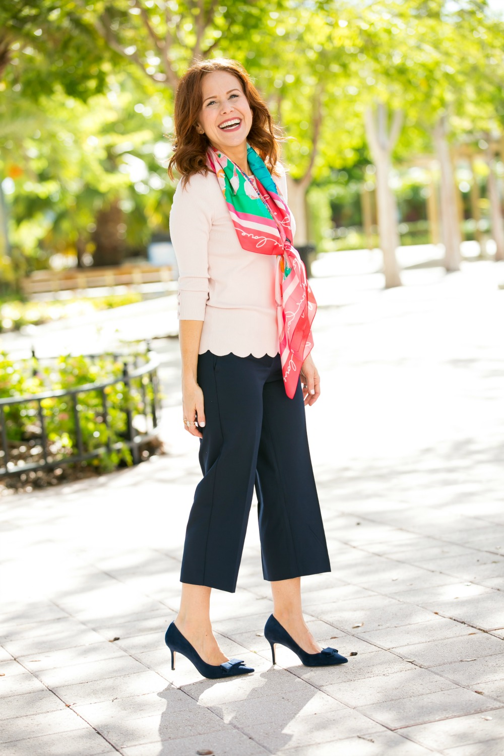 How to wear cropped wide leg pants to work #workstyle