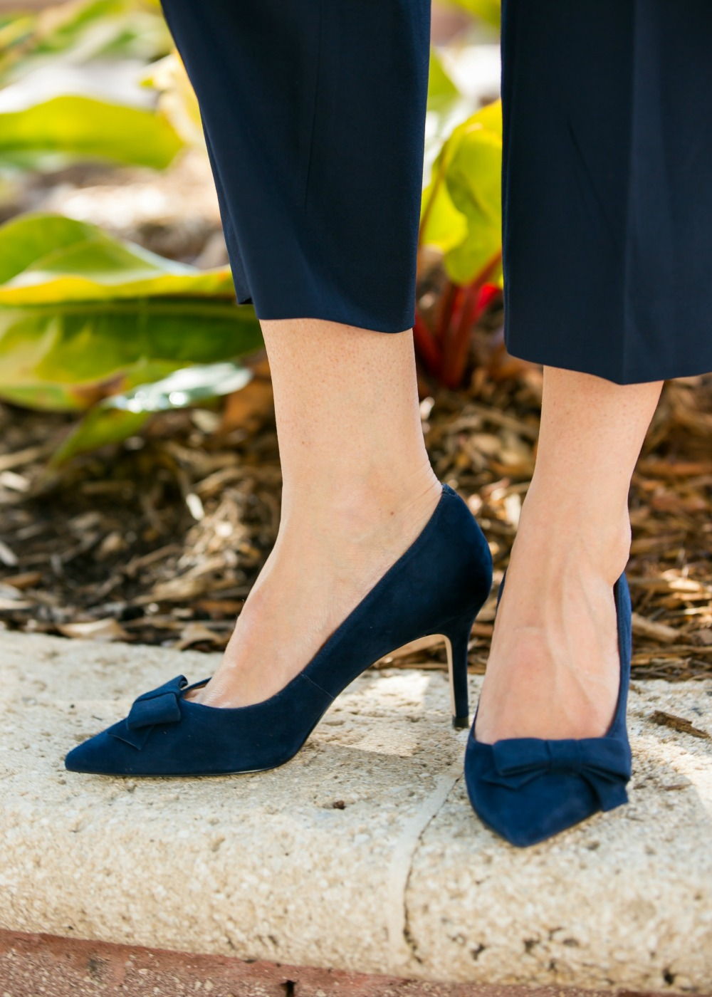 Bow heels // easy outfit combos to get ready fast for work