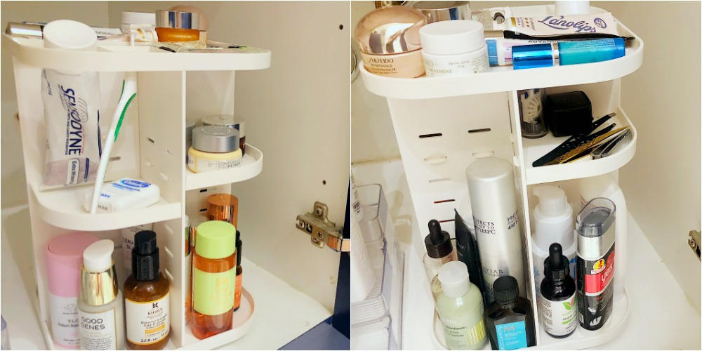 Helpful storage bathroom organizer | Alyson's Current Favorites // October 2018 featured by top Florida lifestyle blog The Modern Savvy