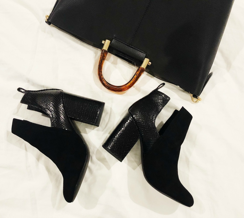 Fall accessories // affordable black purse and booties | whats inside | Nordstrom | Fall Trunk Club Review & Try-On Session featured by top Florida style blog The Modern Savvy