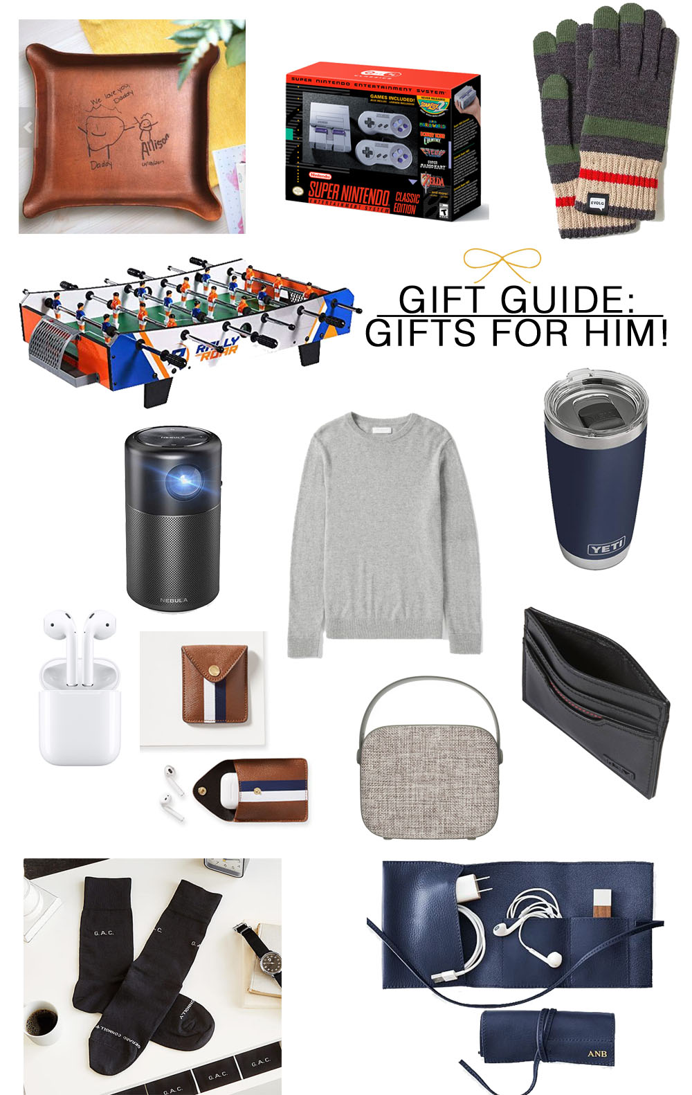 Best Gift Ideas for Him ... especially when you don't know what to get! #giftsforhim #giftguide #holiday