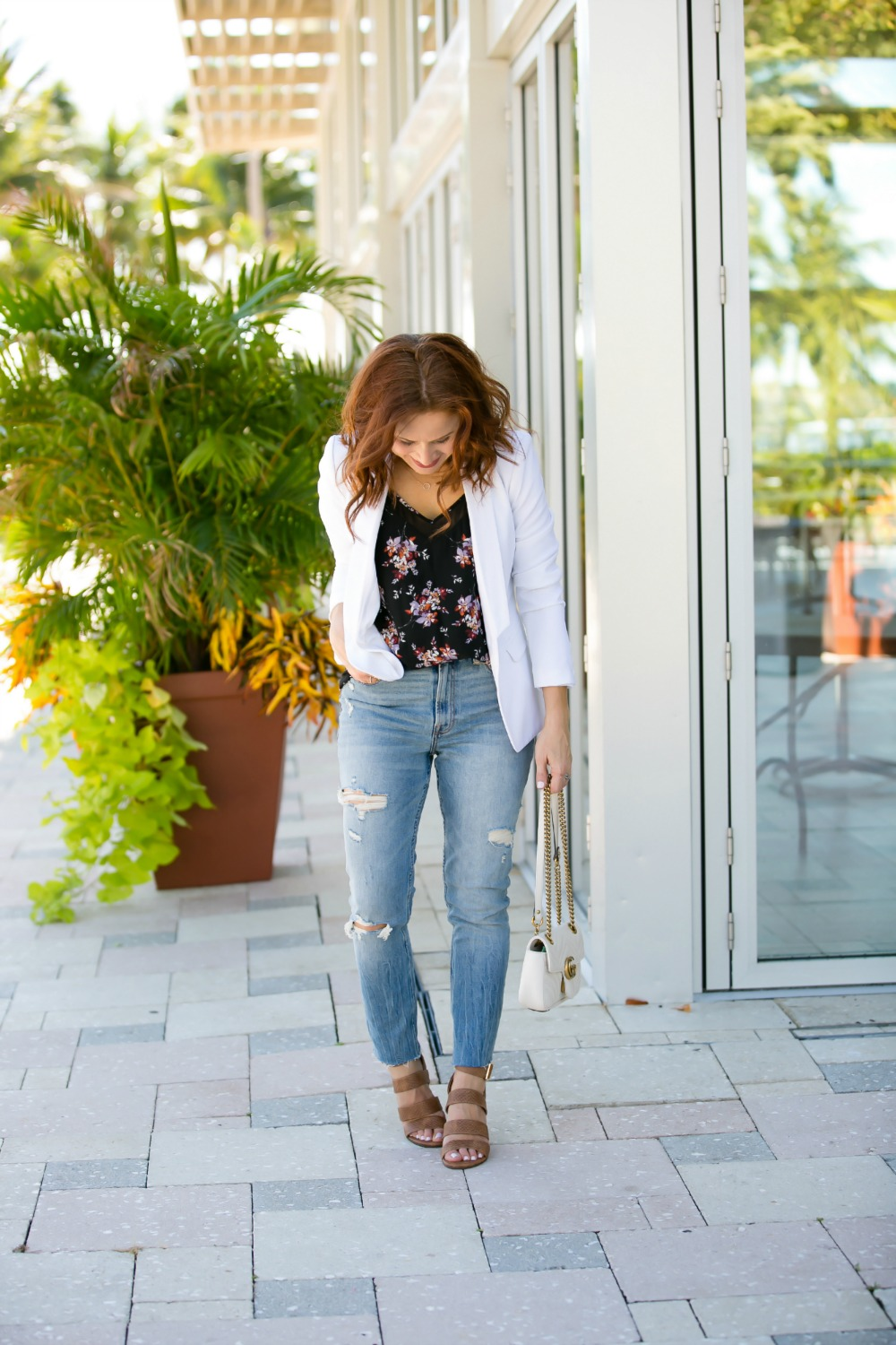 Gucci | Nordstrom | H&M | Abercrombie | Blazer | Casual | Night Out Outfit Formula featured by top Florida fashion blog The Modern Savvy