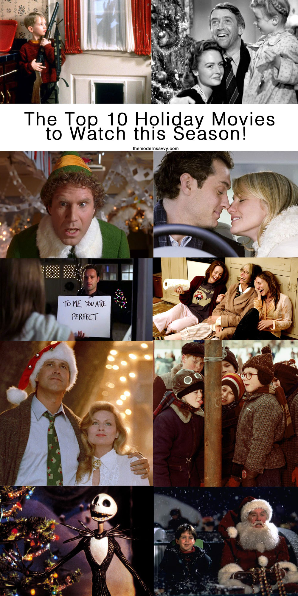 #holiday #bingefest #movienight | Christmas | The 10 Best Holiday Movies to Watch This Season featured by top Florida life and style blog The Modern Savvy