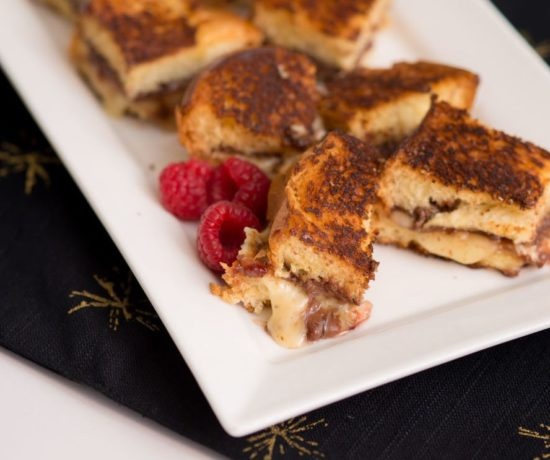 Nutella stuffed grilled cheese