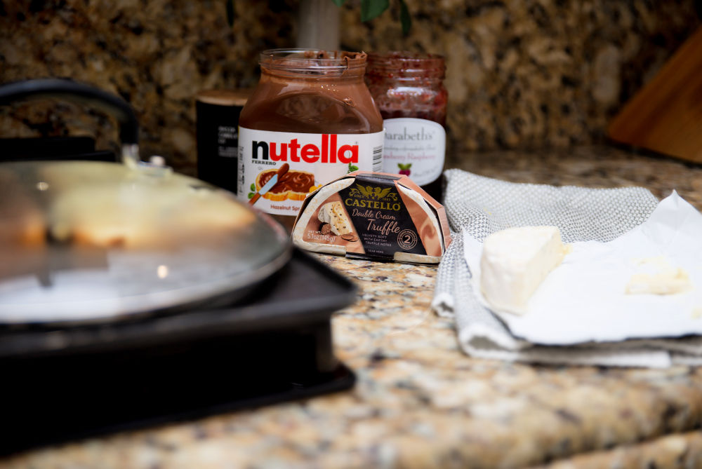 #recipe #grilledcheese | Castello Cheese | Foodie | Nutella & Raspberry Stuffed Grilled Cheese featured by top Florida lifestyle blog The Modern Savvy