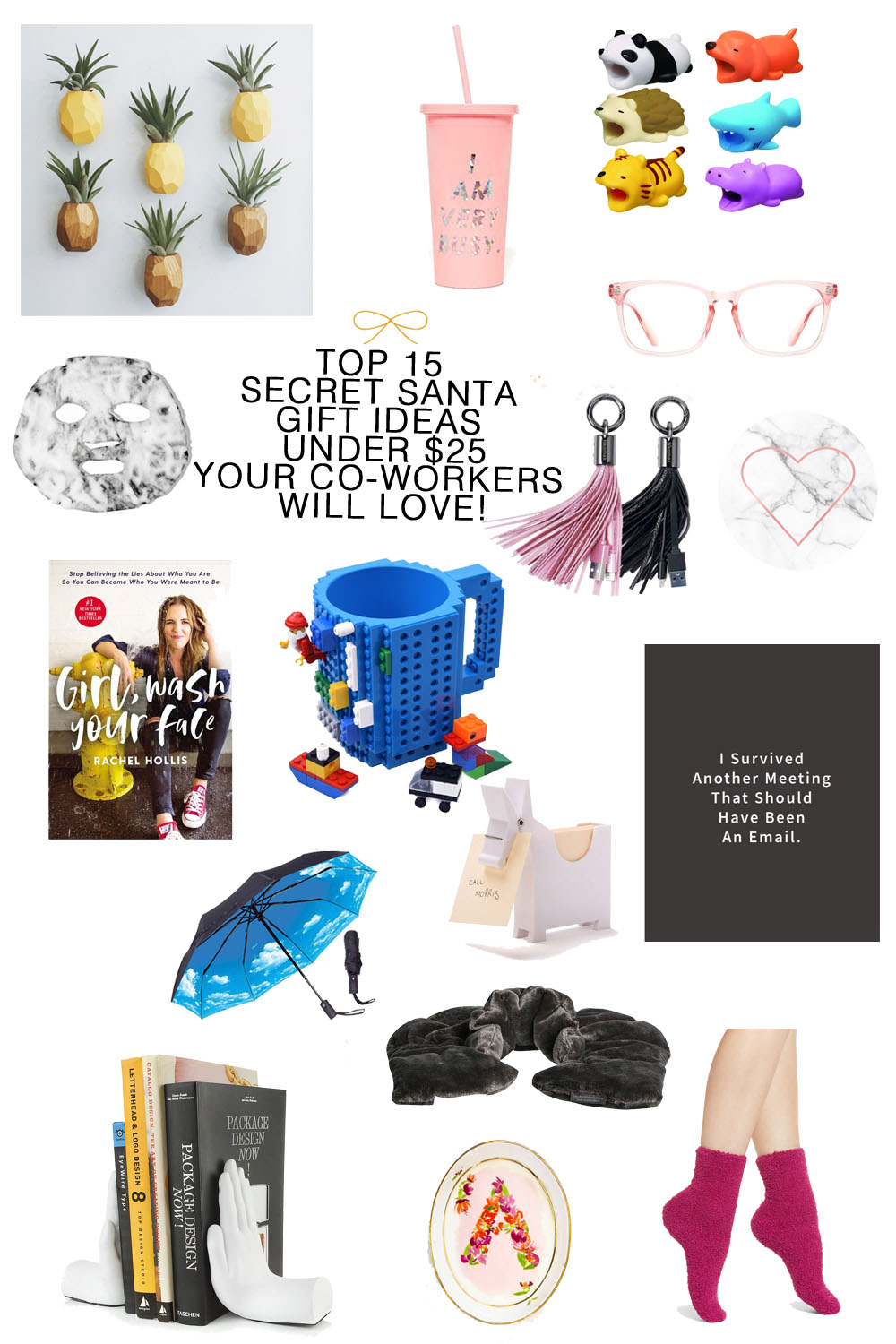 The 15 Best Gift Ideas for Secret Santa for Your Co-Workers! // #holiday #giftideas #giftguide #officeparty - Top 15 Secret Santa Gift Ideas Your Co-Workers Will Love featured by top Florida lifestyle blogger, The Modern Savvy