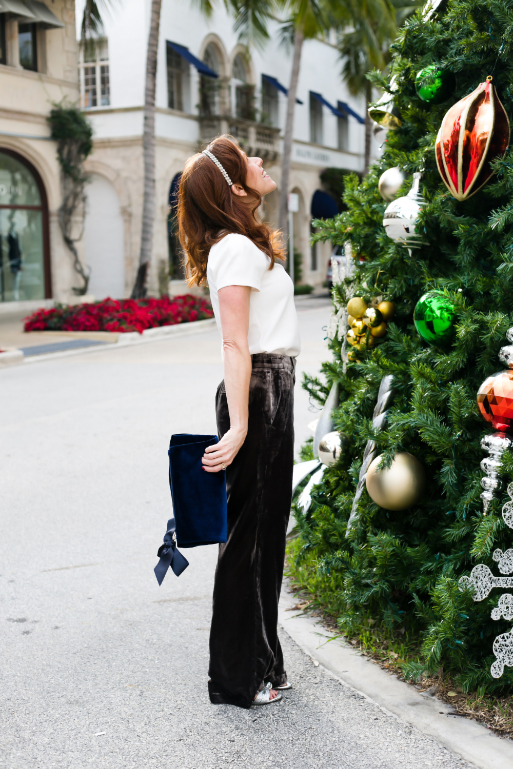 Ann Taylor | Black Velvet Pants for the Perfect Holiday Outfit featured by top Florida fashion blog The Modern Savvy