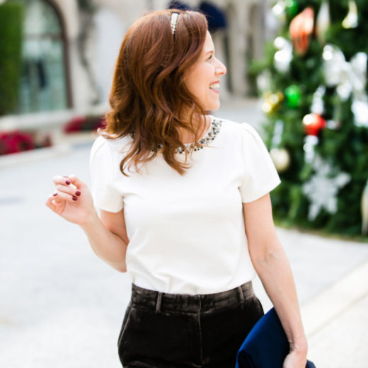 What to wear this holiday season // florida lifestyle blogger, alyson seligman, on worth avenue, palm beach #holidayparty #momstyle