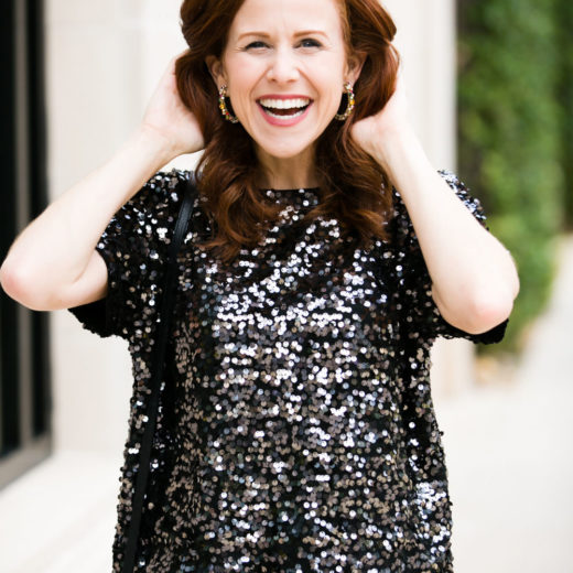 What to wear to a NYE party #holidaystyle #redhead #outfitinspo