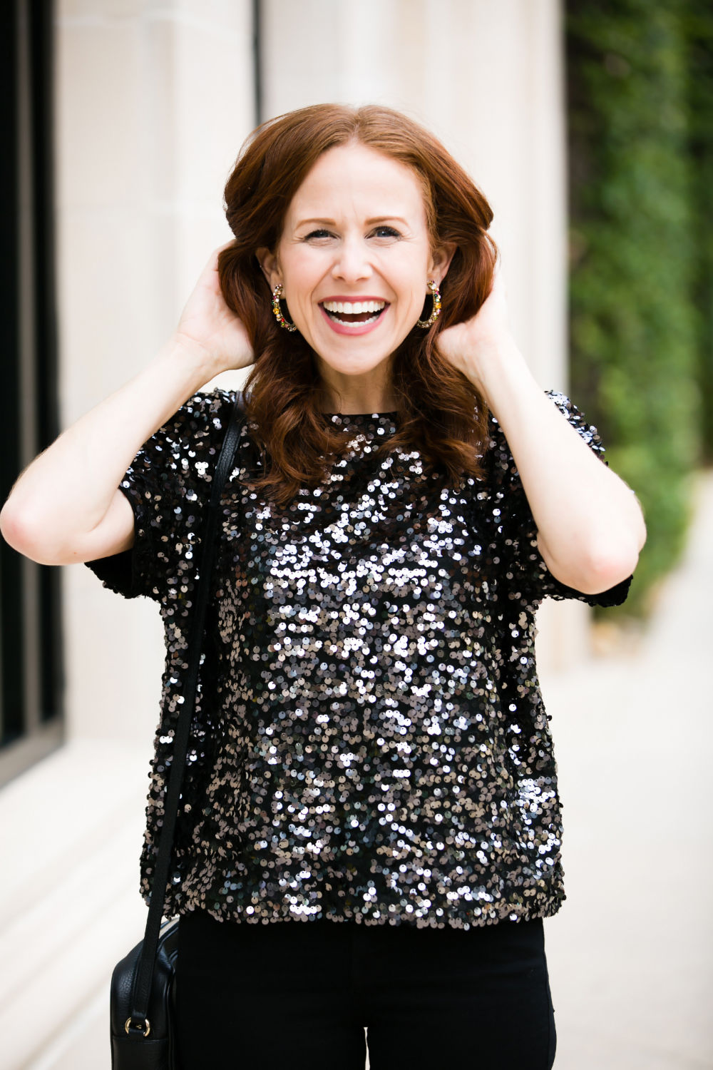 #holidaystyle #redhead #outfitinspo  #sequins #realstyle | Chanel | What to Wear for NYE House Party featured by top Florida fashion blog The Modern Savvy