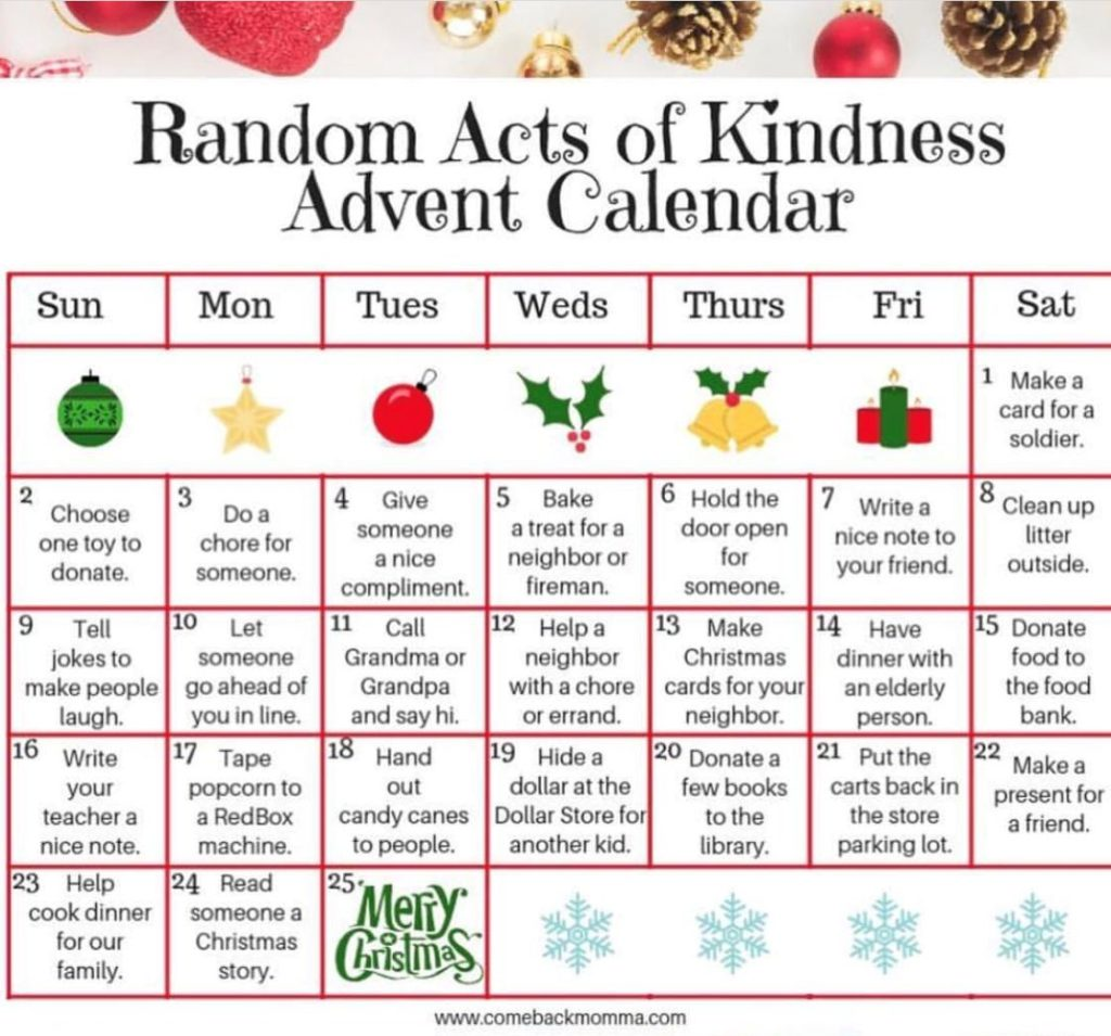 Random Acts of Kindness for December