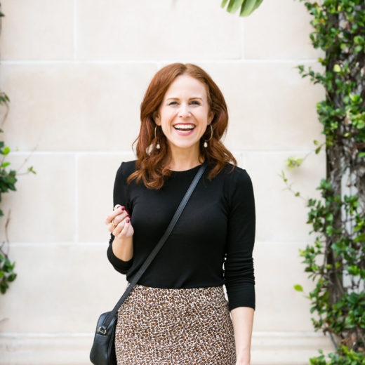 WHat to wear with a leopard skirt