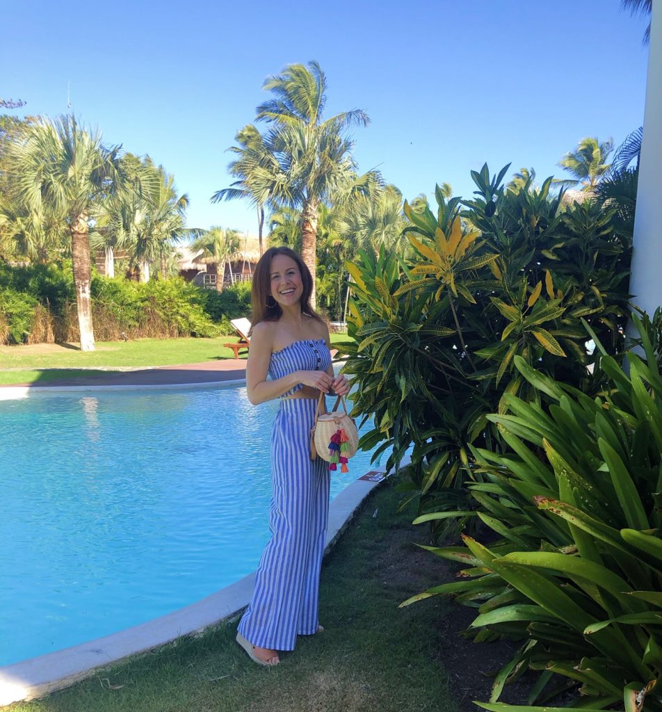 What to Wear in Punta Cana featured by top US fashion blog The Modern Savvy; Image of a woman wearing two-piece outfit from Amazon.