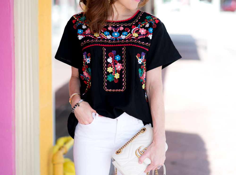 Embroidered top from Amazon // Best Amazon Tops for Spring under $30